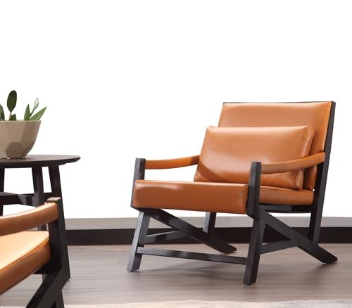 意式极简品牌扶手椅